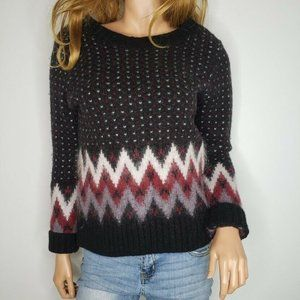 L.L. Bean Norwegian Sweater Pullover Wool Mohair